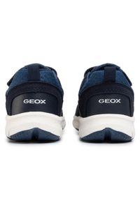 Niebieskie półbuty Geox casualowe, z cholewką