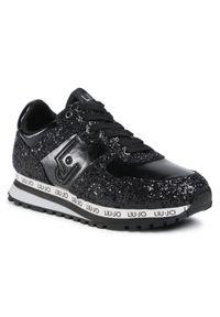 Czarne buty sportowe Liu Jo z cholewką, na co dzień