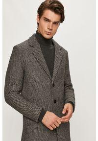 Szary płaszcz PRODUKT by Jack & Jones klasyczny, na co dzień #7
