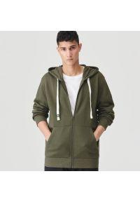 Sinsay - Rozpinana bluza z kapturem - Zielony. Typ kołnierza: kaptur. Kolor: zielony