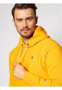 Champion Bluza 214675 Żółty Custom Fit. Kolor: żółty