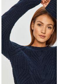 Niebieski sweter Answear Lab na co dzień, z długim rękawem, wakacyjny, długi
