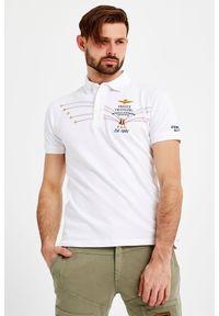 Koszulka polo Aeronautica Militare z nadrukiem, sportowa, polo