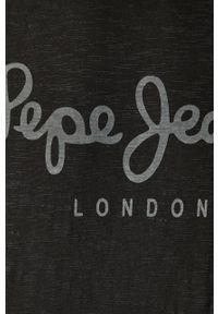 Niebieska koszulka z długim rękawem Pepe Jeans na co dzień, z okrągłym kołnierzem, casualowa #5