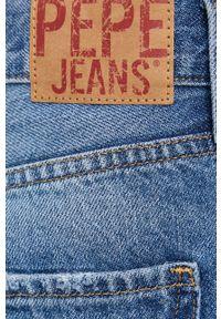 Pepe Jeans - Szorty jeansowe Mable. Okazja: na co dzień. Kolor: niebieski. Materiał: tkanina. Wzór: gładki. Styl: casual