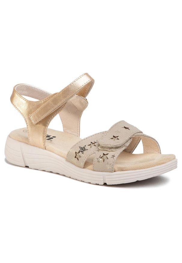 Złote sandały Xti casualowe, na co dzień