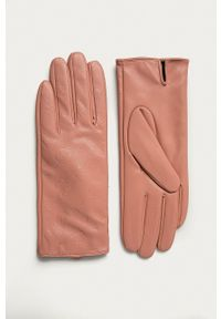 Guess Jeans - Rękawiczki. Kolor: różowy. Materiał: jeans