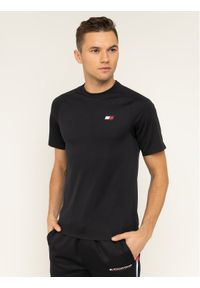 Czarny t-shirt Tommy Sport sportowy