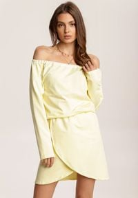 Renee - Żółta Sukienka Viviany. Kolor: żółty