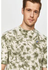 Zielony t-shirt Russell Athletic casualowy, na co dzień
