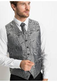 Garnitur 5-częściowy (marynarka, spodnie, kamizelka, plastron i chusteczka do butonierki) bonprix czarny. Kolor: czarny. Styl: elegancki