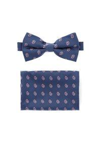 Niebieska muszka Lancerto paisley, elegancka