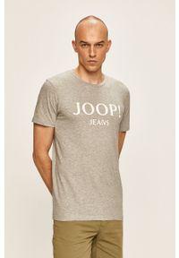 Szary t-shirt JOOP! z nadrukiem, na co dzień, casualowy