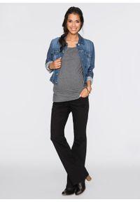 Spodnie ciążowe BOOTCUT bonprix czarny. Kolekcja: moda ciążowa. Kolor: czarny