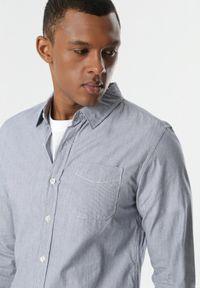 Niebieska koszula biznesowa Born2be