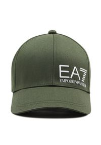 EA7 Emporio Armani - Czapka z daszkiem EA7 EMPORIO ARMANI - 275936 1P103 01388 Climbing Ivy. Kolor: zielony. Materiał: materiał, bawełna