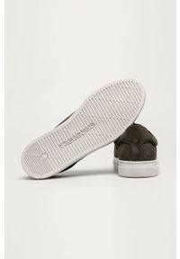 Szare sneakersy vagabond z cholewką, na sznurówki, z okrągłym noskiem