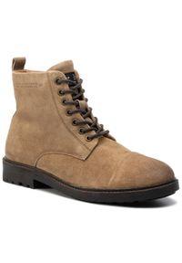 Brązowe buty zimowe Pepe Jeans casualowe, na co dzień, z cholewką