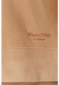 Marc O'Polo - Bluza bawełniana. Typ kołnierza: polo. Kolor: beżowy. Materiał: bawełna. Długość rękawa: długi rękaw. Długość: długie