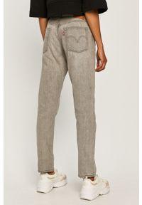 Szare jeansy Levi's® biznesowe, z podwyższonym stanem, na spotkanie biznesowe