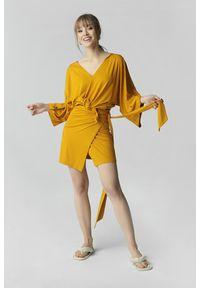 Żółta spódnica Madnezz długa