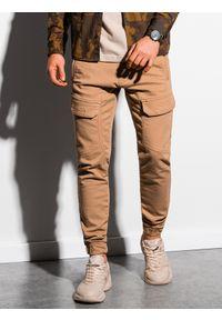 Beżowe spodnie Ombre Clothing