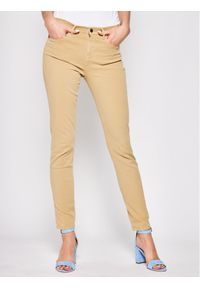 Brązowe spodnie materiałowe Emporio Armani