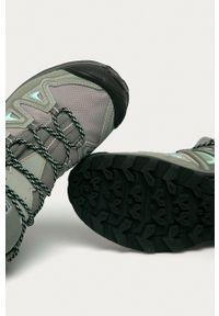 salomon - Salomon - Buty X Ultra 3 Mid GTX. Nosek buta: okrągły. Zapięcie: sznurówki. Kolor: szary. Materiał: guma. Szerokość cholewki: normalna
