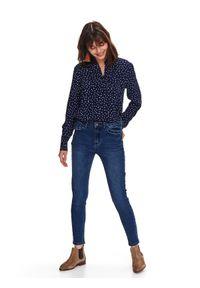 Niebieska koszula TOP SECRET elegancka, na wiosnę, na co dzień