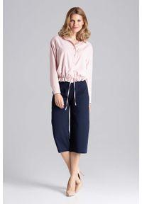 Niebieskie spodnie Figl eleganckie