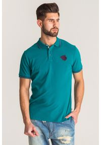 Zielona koszulka polo Just Cavalli polo, sportowa