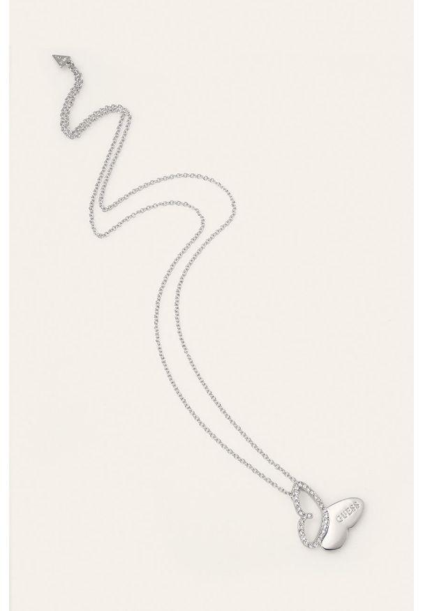 Srebrny naszyjnik Guess Jeans metalowy