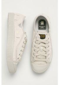Beżowe sneakersy G-Star RAW z cholewką, na sznurówki