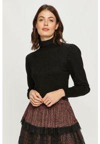 Czarny sweter Silvian Heach długi, z długim rękawem, klasyczny
