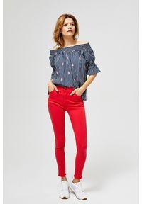 Czerwone spodnie MOODO na co dzień, casualowe