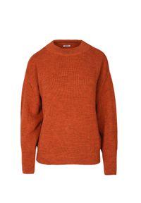 Brązowy sweter VEVA na lato, sportowy
