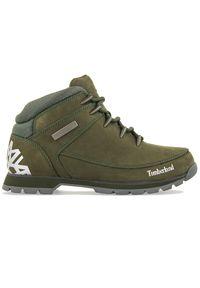 Zielone buty zimowe Timberland na spacer, z cholewką