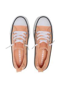 Pomarańczowe trampki Converse z cholewką