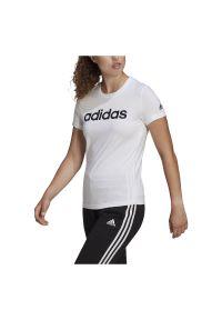 Adidas - Koszulka damska adidas Loungewaer Essentials GL0768. Materiał: bawełna, dresówka, dzianina. Wzór: gładki