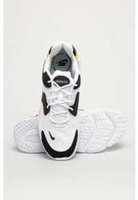 Białe buty sportowe Nike Sportswear na średnim obcasie, na obcasie, Nike Air Max, z okrągłym noskiem