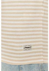 Kremowy t-shirt PRODUKT by Jack & Jones casualowy, na co dzień