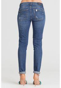 Niebieskie jeansy Liu Jo klasyczne, z podwyższonym stanem