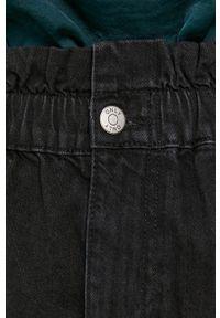 only - Only - Spódnica jeansowa bawełniana. Okazja: na co dzień. Stan: podwyższony. Kolor: czarny. Materiał: bawełna, jeans. Styl: casual
