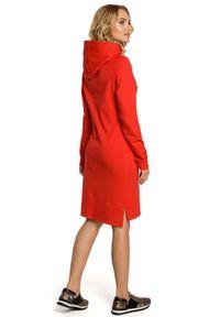Sukienka MOE sportowa, z długim rękawem