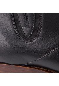 Czarne buty zimowe Kazar z cholewką, na zamek, eleganckie