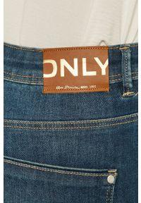only - Only - Jeansy Wauw. Stan: podwyższony. Kolor: niebieski