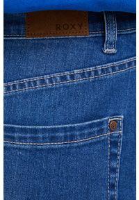 Roxy - Spódnica jeansowa. Okazja: na co dzień. Kolor: niebieski. Materiał: jeans. Styl: casual