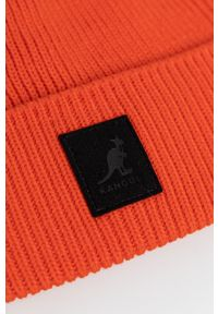 Kangol - Czapka. Kolor: pomarańczowy