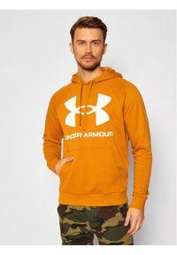 Under Armour Bluza Ua Rival Fleece Big Logo 1357093 Żółty Loose Fit. Kolor: żółty