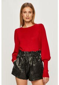 Czerwony sweter Vila casualowy, długi